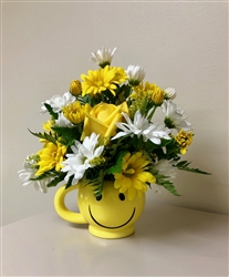 Floral Arrangement in Smile Mug