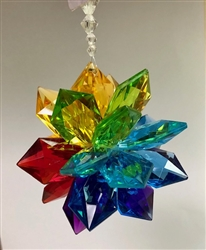 Rainbow Acrylic Star Ornament